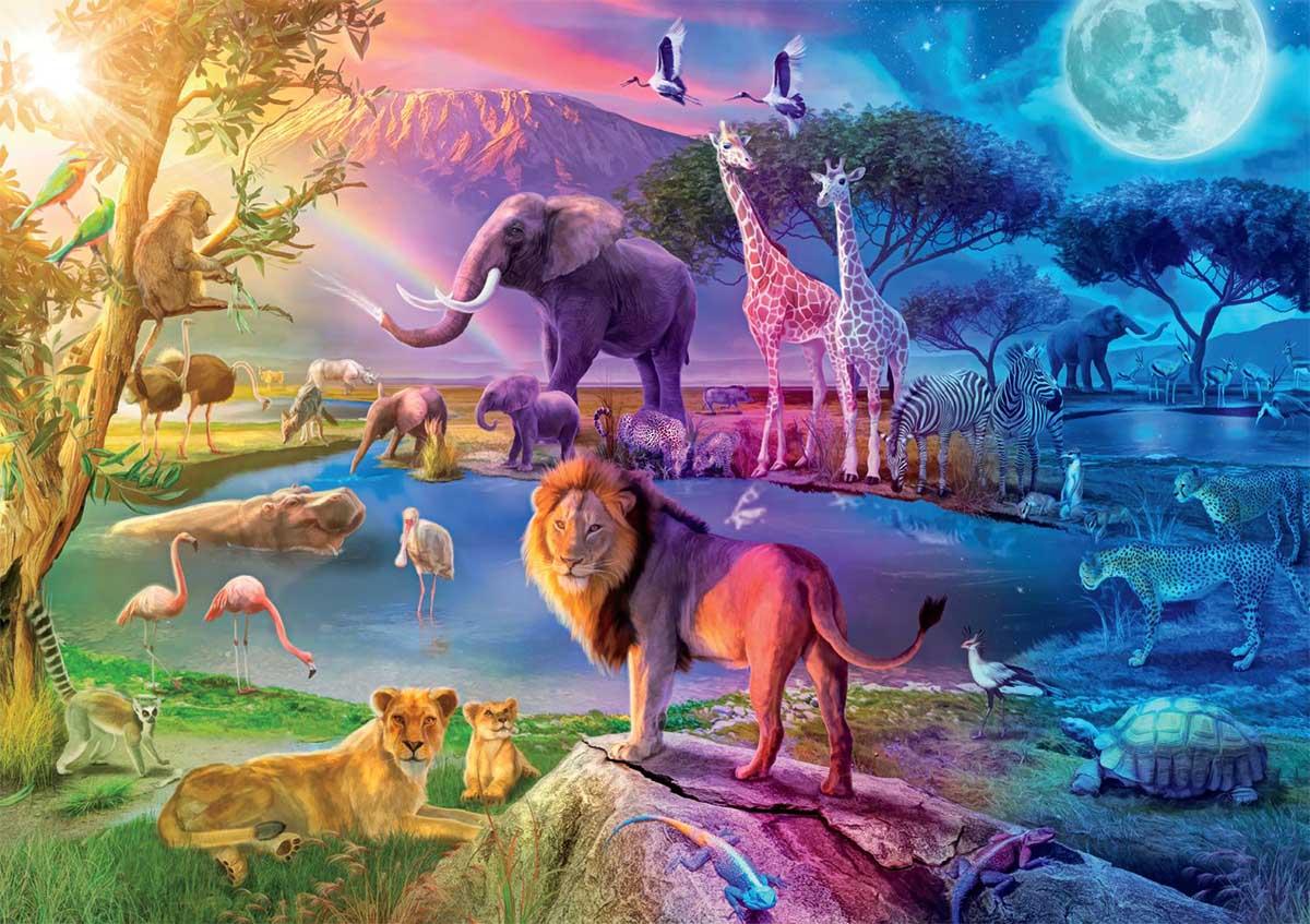 Serengeti Sunrise Lions Jigsaw Puzzle