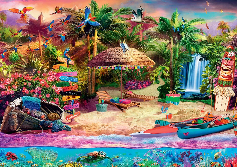 Tropical Island Holiday Beach Jigsaw Puzzle