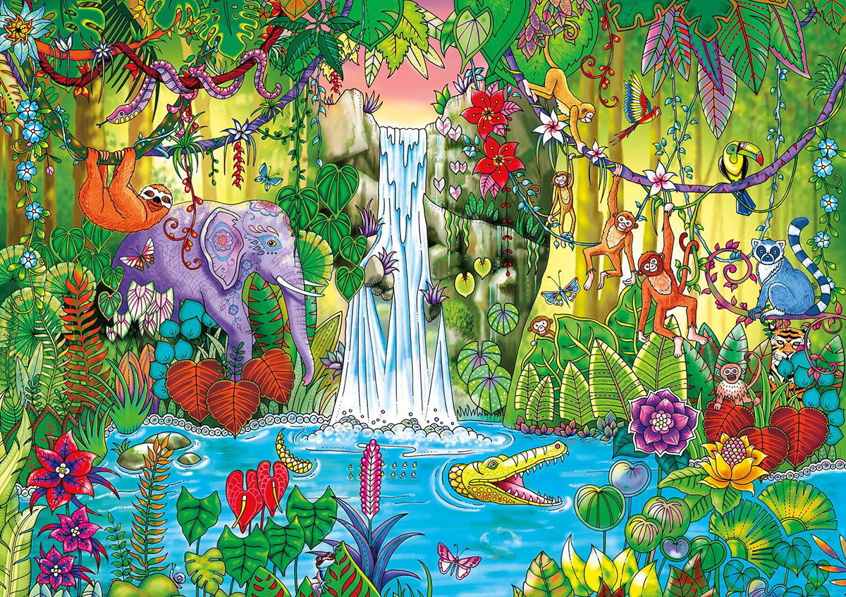 Magical Jungle Jigsaw Puzzle Puzzlewarehouse Com