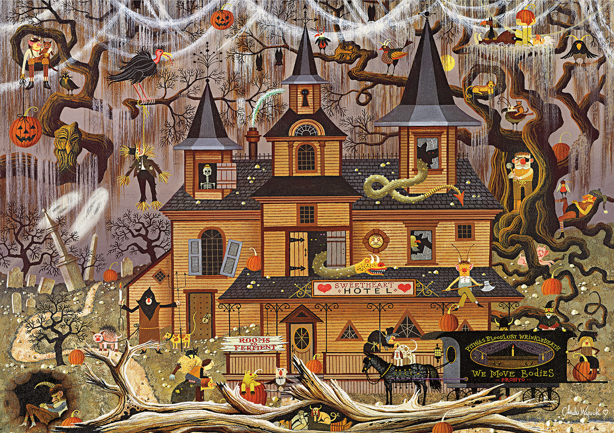 Trick or Treat Hotel Halloween Jigsaw Puzzle