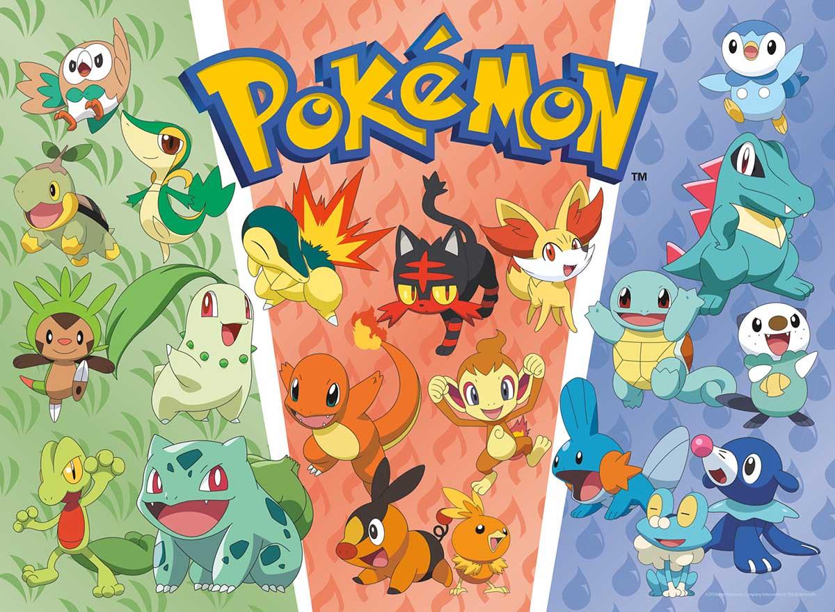 Pokemon - Starters Pokemon Cartoons Jigsaw Puzzle