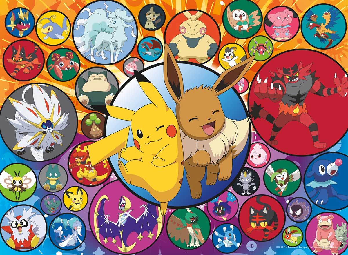 Pokemon - Poke Bubbles-Alola Cartoons Jigsaw Puzzle