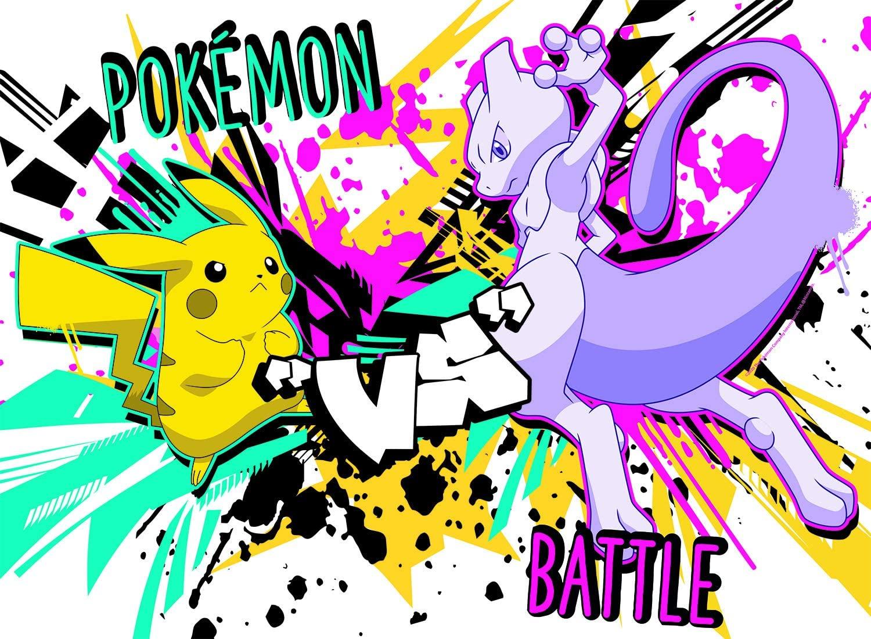 Pokemon - Pikachu vs. Mewtwo Video Game Jigsaw Puzzle