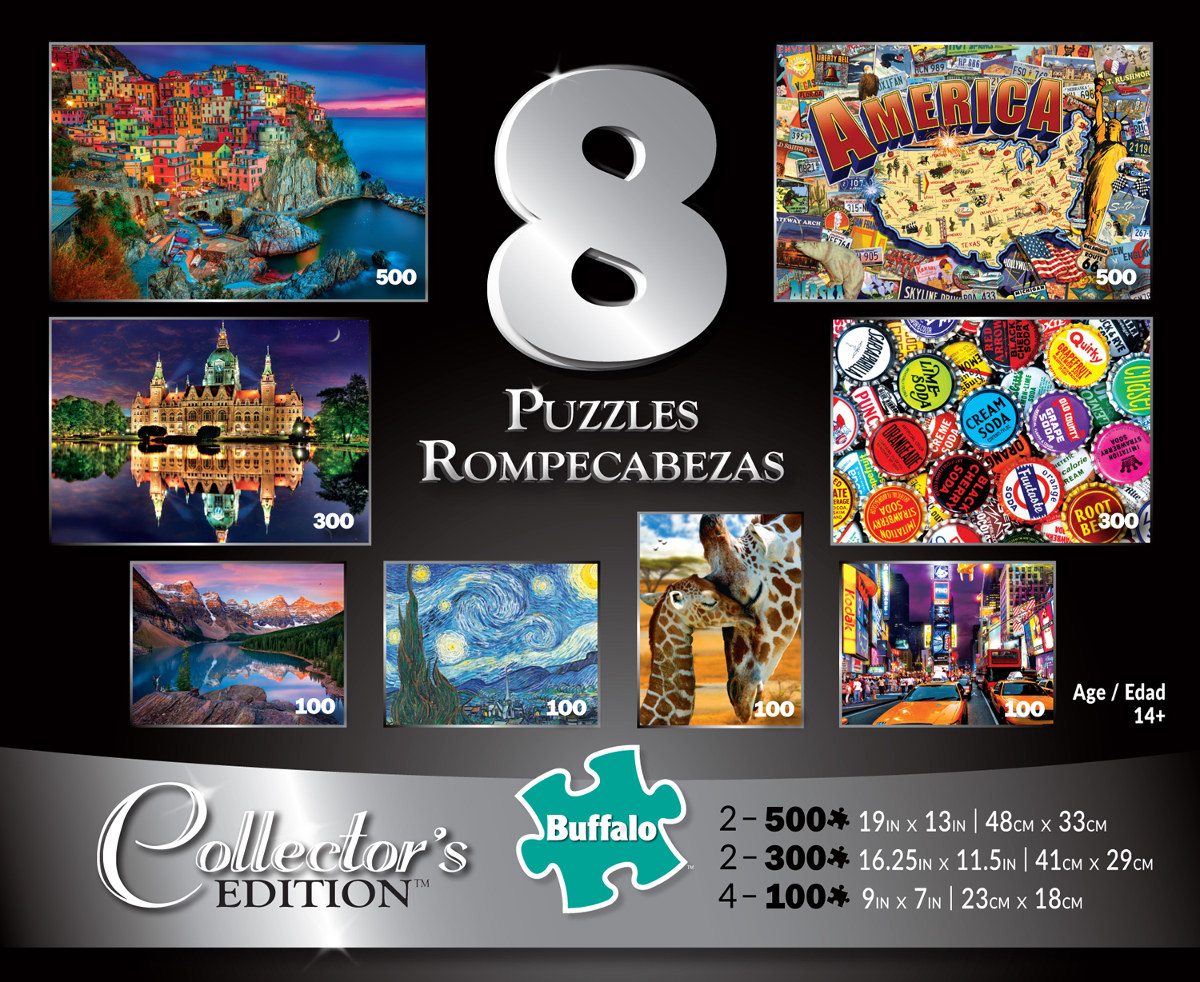 8 in 1 Collector's Edition Multipack Landscape Jigsaw Puzzle