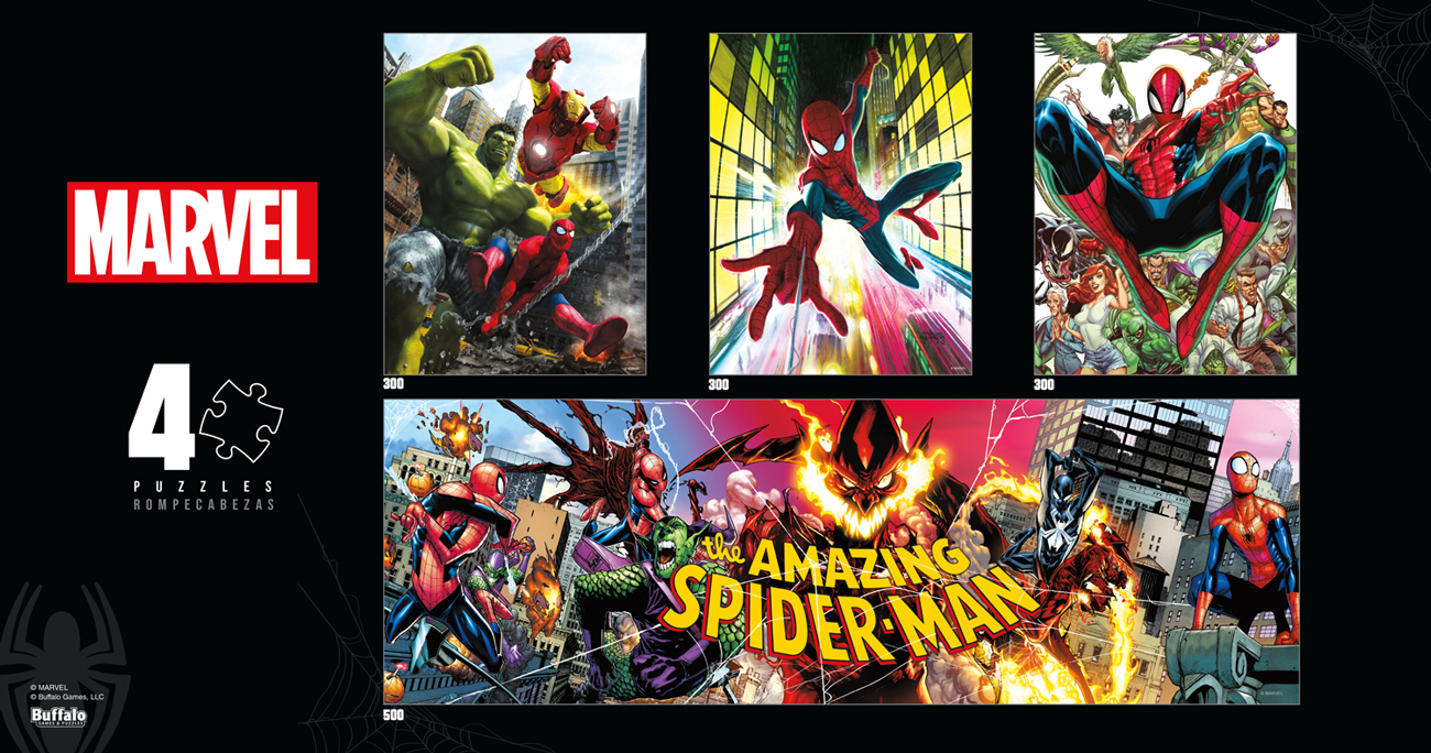 4 X 1 Multipack - Marvel Movies / Books / TV Jigsaw Puzzle