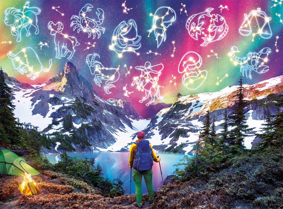 Zodiac Mountain - Glow in the Dark Mountains Glow in the Dark Puzzle