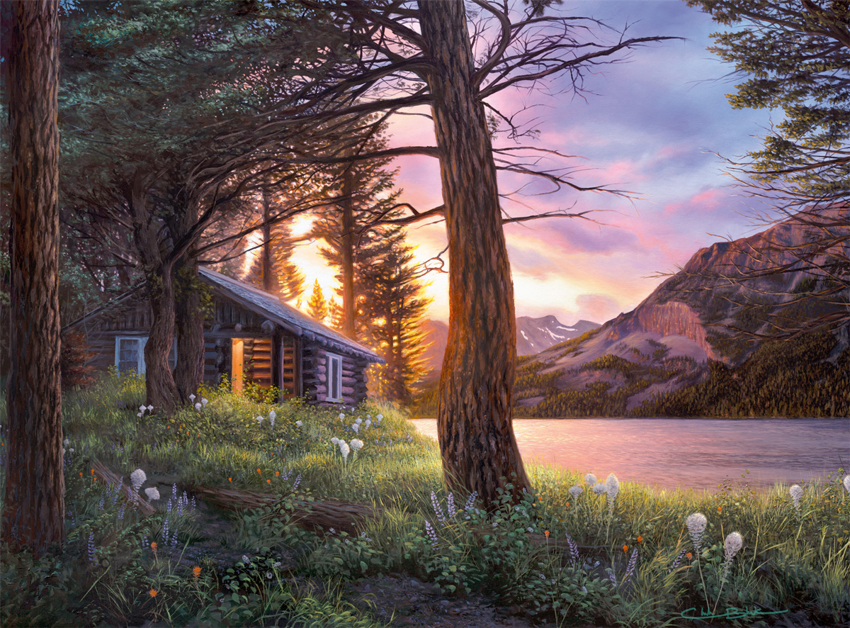 Blissful Solitude Lakes / Rivers / Streams Jigsaw Puzzle