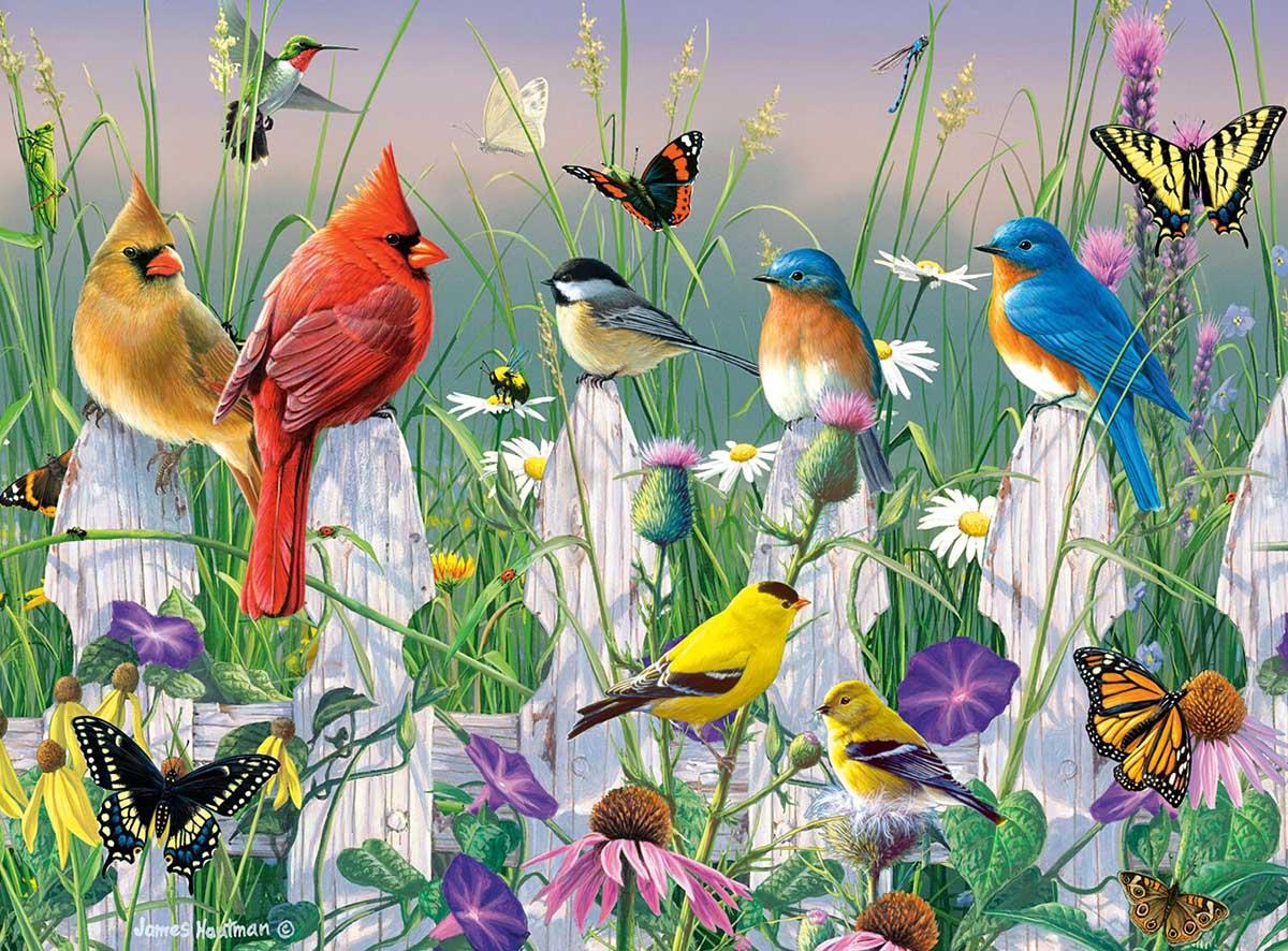 Birds and Butterflies Birds Jigsaw Puzzle