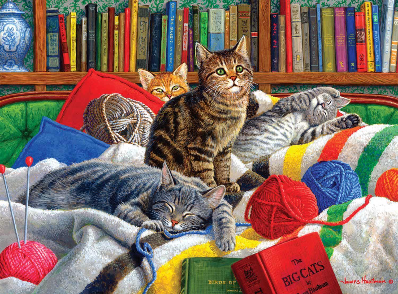Library Kitties Cats Jigsaw Puzzle
