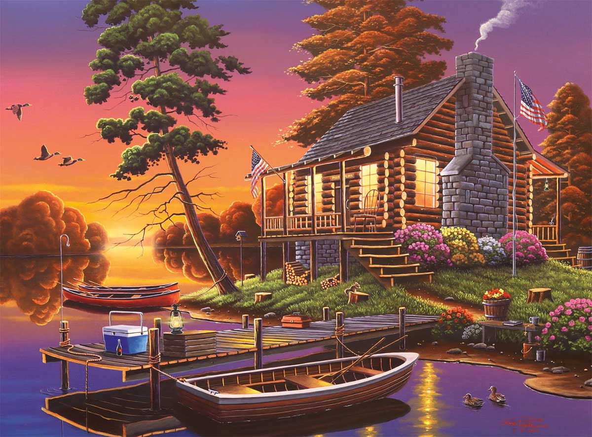 New Day Dawning Boats Jigsaw Puzzle
