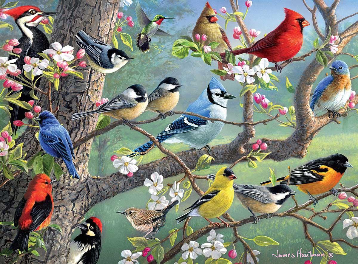 Birds in an Orchard Birds Jigsaw Puzzle