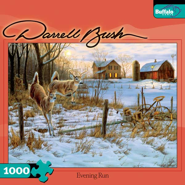 Evening Run Farm Jigsaw Puzzle