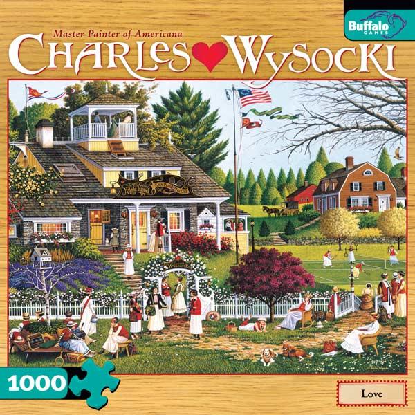 Charles Wysocki - Love Jigsaw Puzzle
