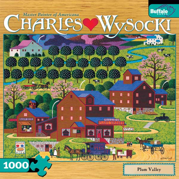 Charles Wysocki - Plum Valley Countryside Jigsaw Puzzle