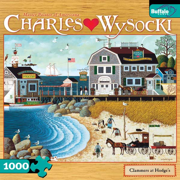 Charles Wysocki - Clammers at Hodge's Summer Jigsaw Puzzle