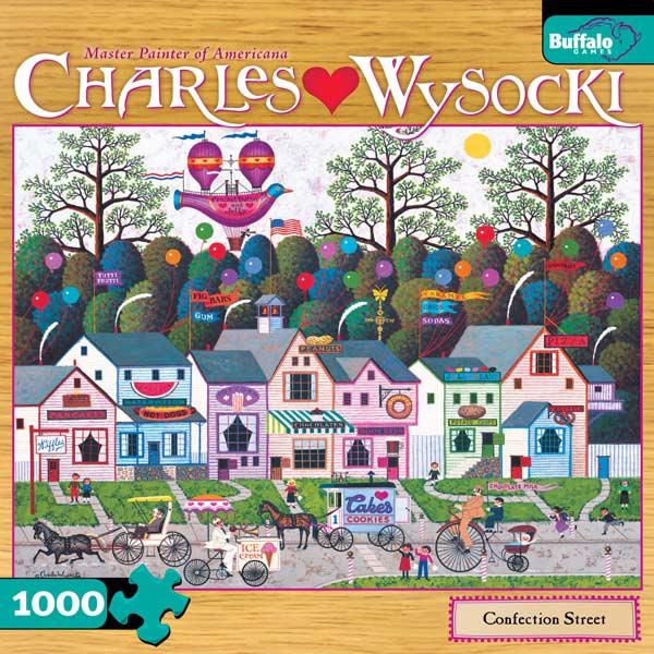 Charles Wysocki - Confection Street Jigsaw Puzzle