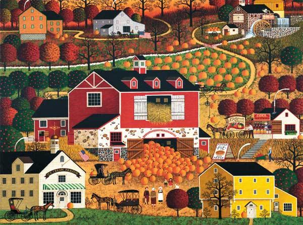 Charles Wysocki - Butternut Farms (1000pc) Fall Jigsaw Puzzle