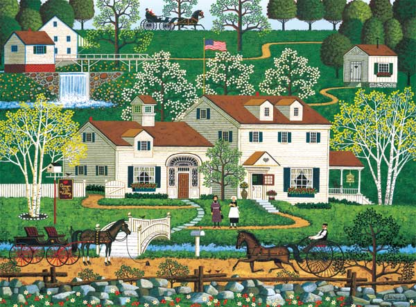 Charles Wysocki - Gingernut Valley (1000pc) Folk Art Jigsaw Puzzle