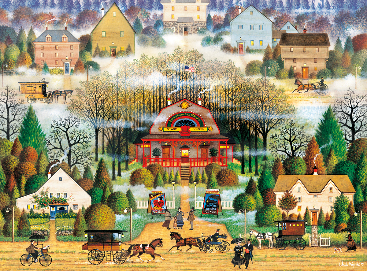 Melodrama in the Mist Horses Jigsaw Puzzle
