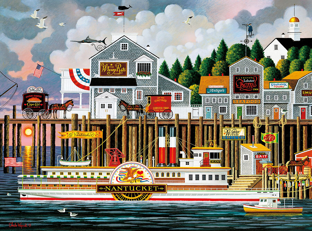 By The Sea - Scratch and Dent Americana & Folk Art Jigsaw Puzzle