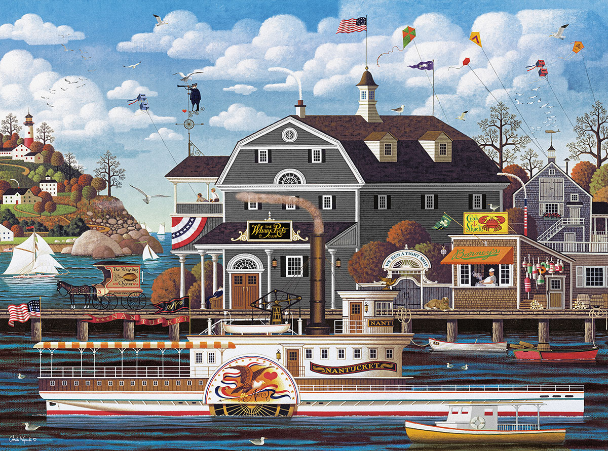 Fairhaven by the Sea Americana & Folk Art Jigsaw Puzzle