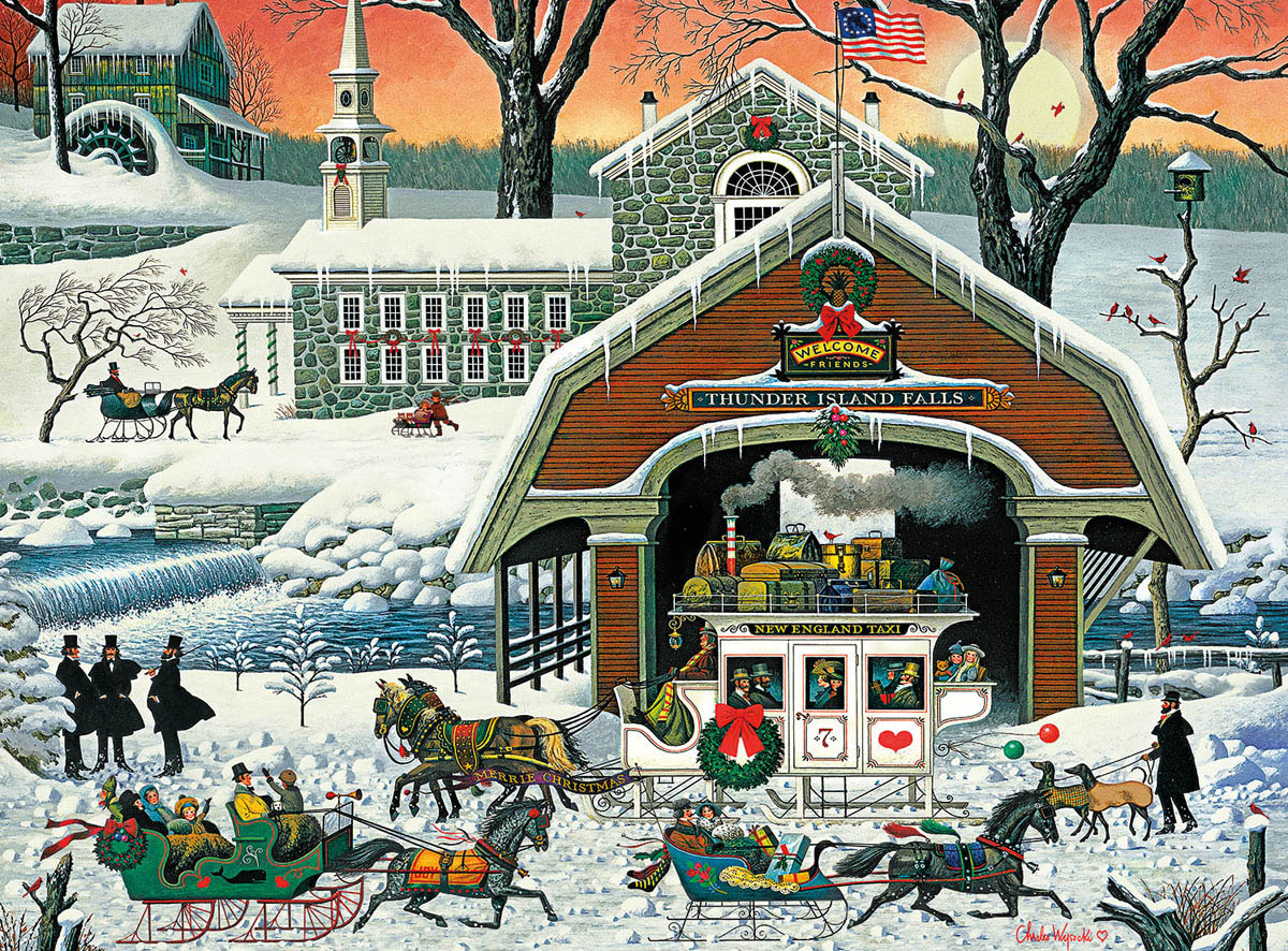 Twas' the Twilight Before Christmas Winter Jigsaw Puzzle
