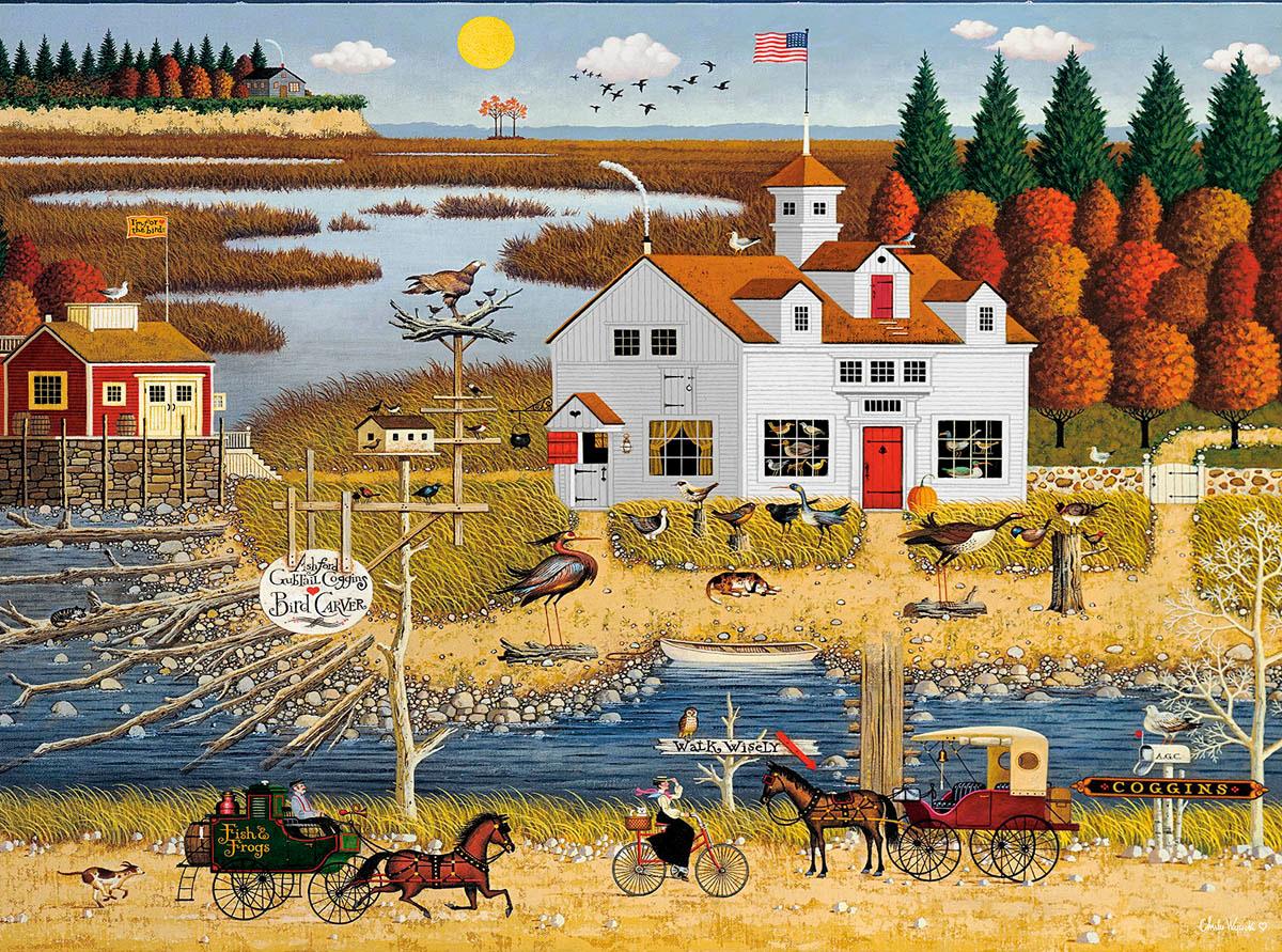 Carver Coggins Birds Jigsaw Puzzle