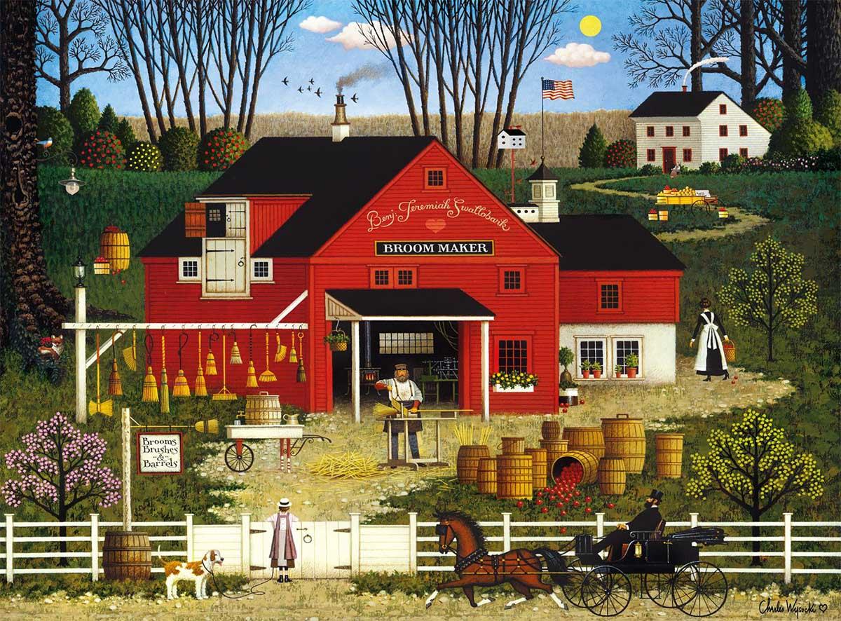Mr. Swallowbark Americana & Folk Art Jigsaw Puzzle