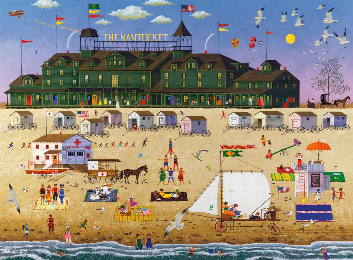 The Nantucket Beach Jigsaw Puzzle