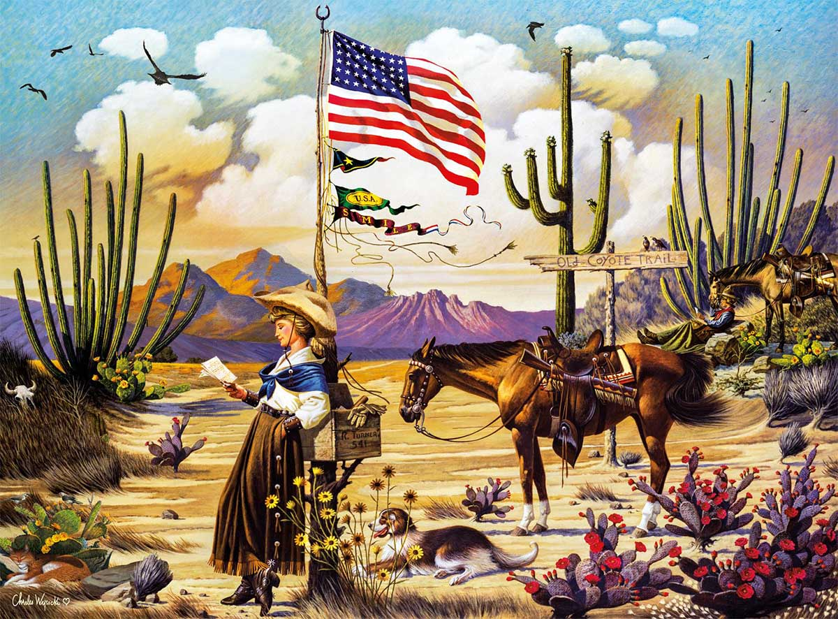 Love Letter From Laramie Americana & Folk Art Jigsaw Puzzle