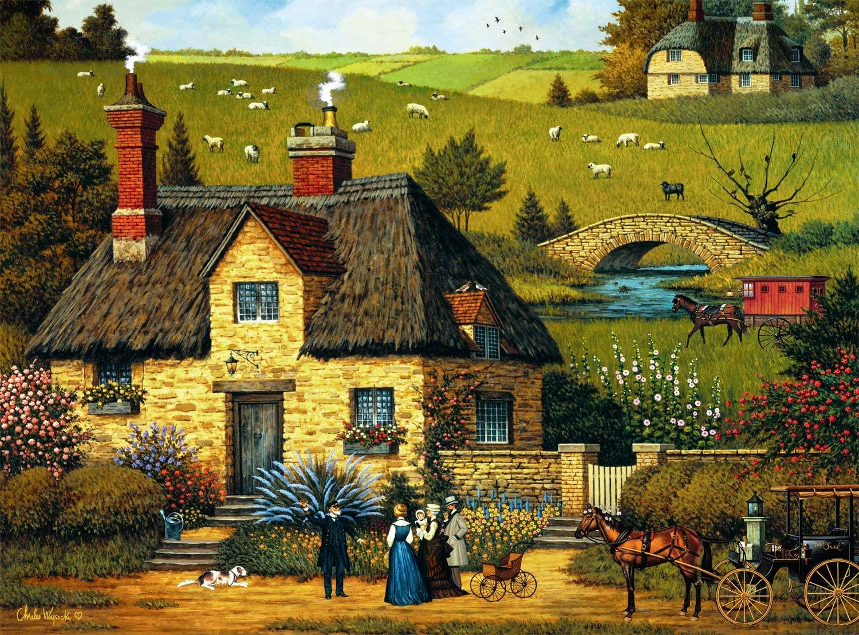 Tall Sea Tale Americana & Folk Art Jigsaw Puzzle