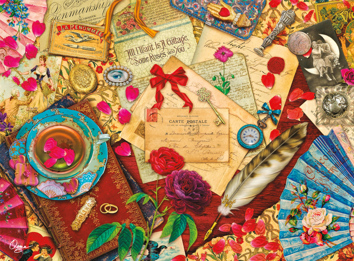 A Vintage Love Letter Everyday Objects Jigsaw Puzzle