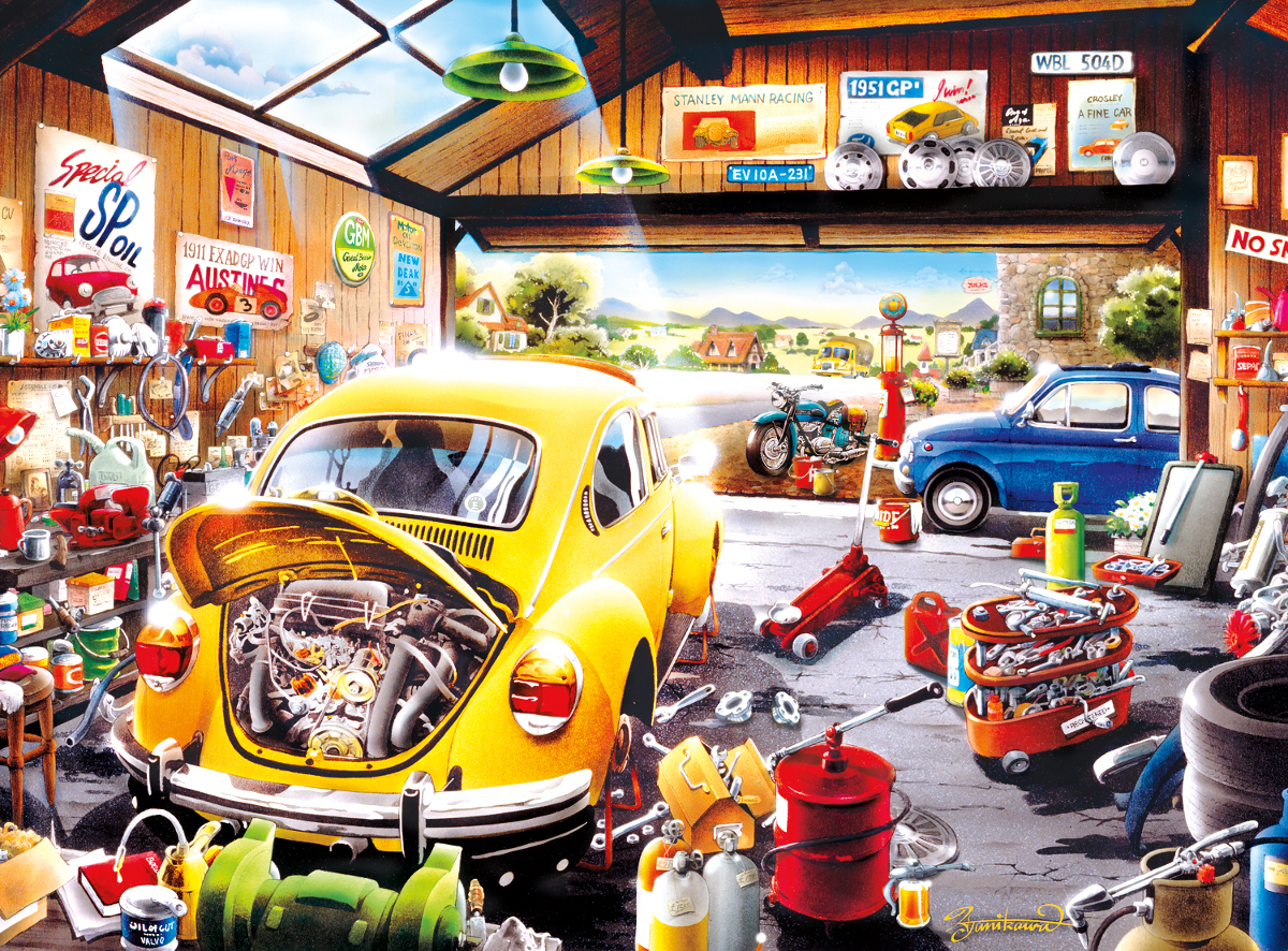 Sam's Garage Cars Jigsaw Puzzle