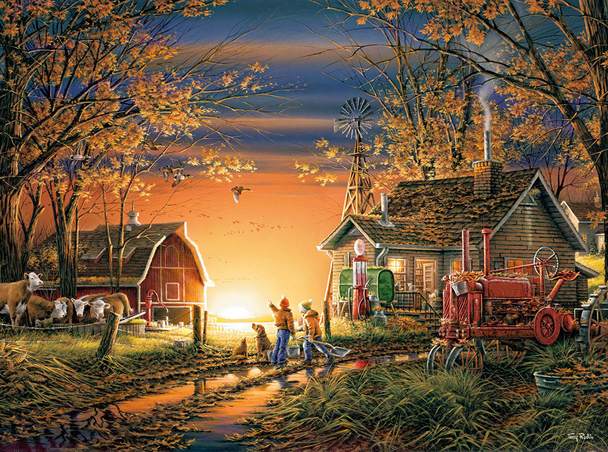 Morning Surprise Countryside Jigsaw Puzzle