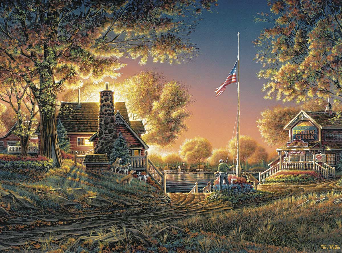 Good Evening, America! Landscape Jigsaw Puzzle