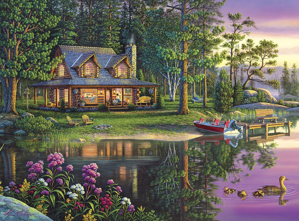 Golden Moments Garden Jigsaw Puzzle