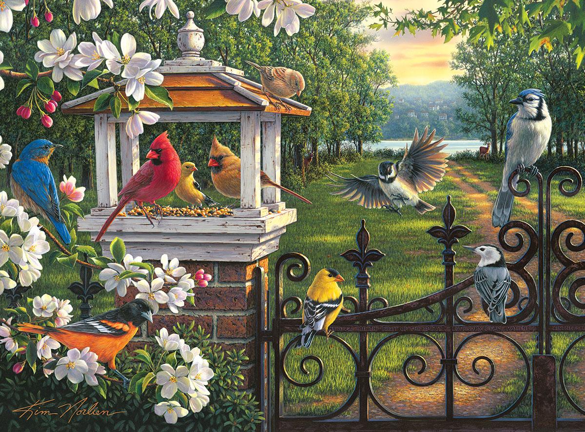 Springtime Melody Birds Jigsaw Puzzle