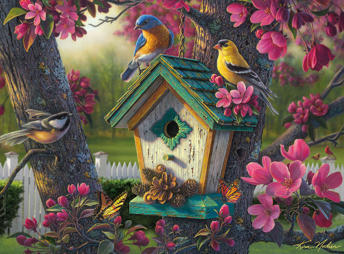 Springtime Beauty Birds Jigsaw Puzzle