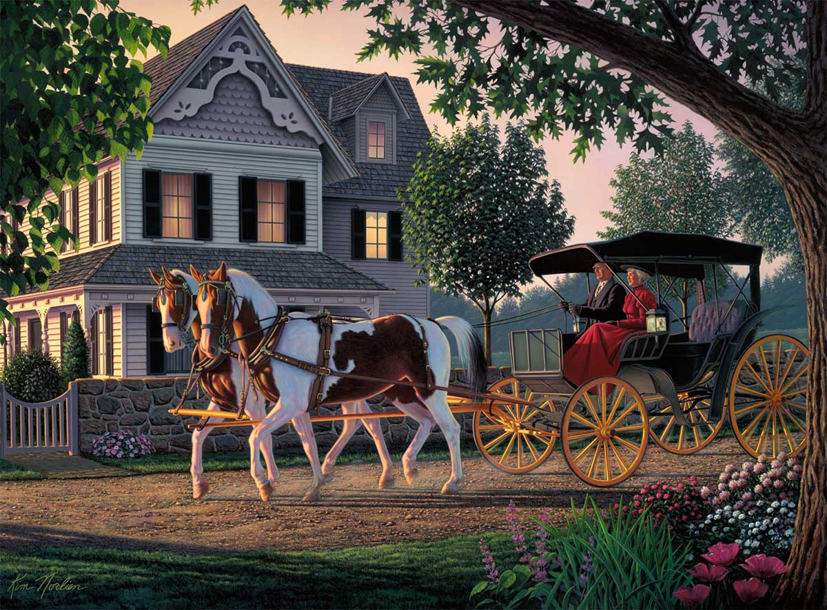 Home Sweet Home Horses Jigsaw Puzzle