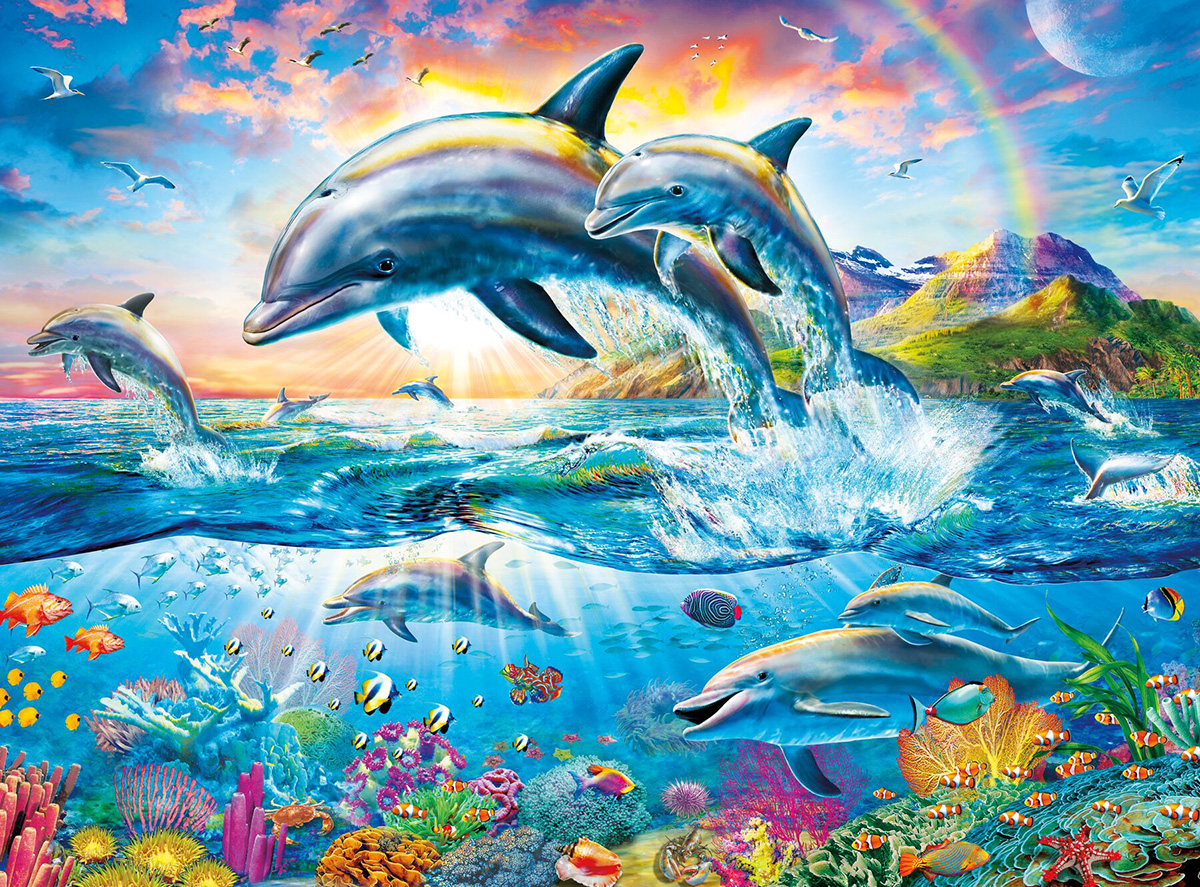 Dolphin Paradise Dolphins Jigsaw Puzzle
