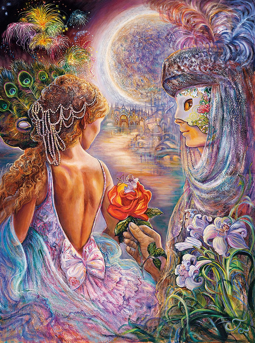 Masque of Love (Glitter Edition) Fantasy Jigsaw Puzzle