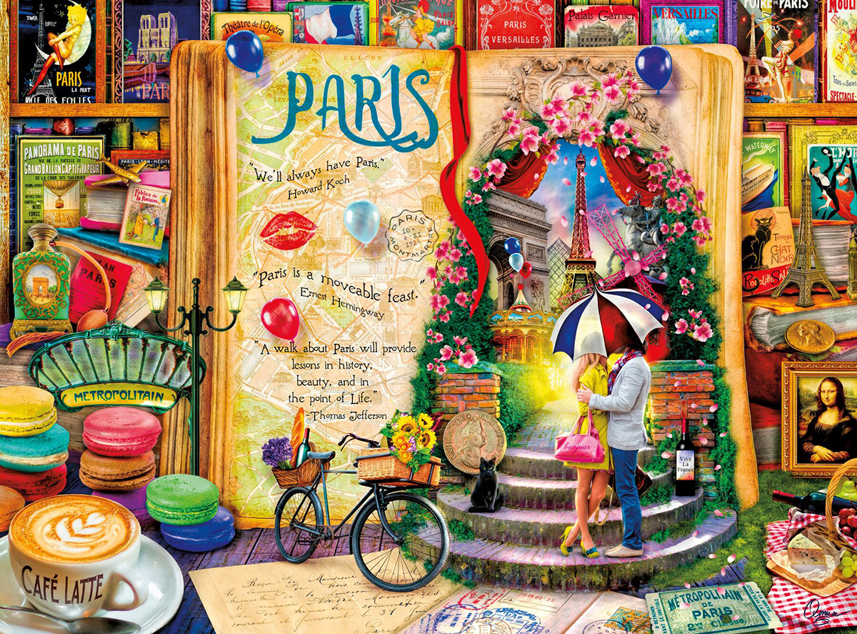 Life is an Open Book: Paris Paris Jigsaw Puzzle