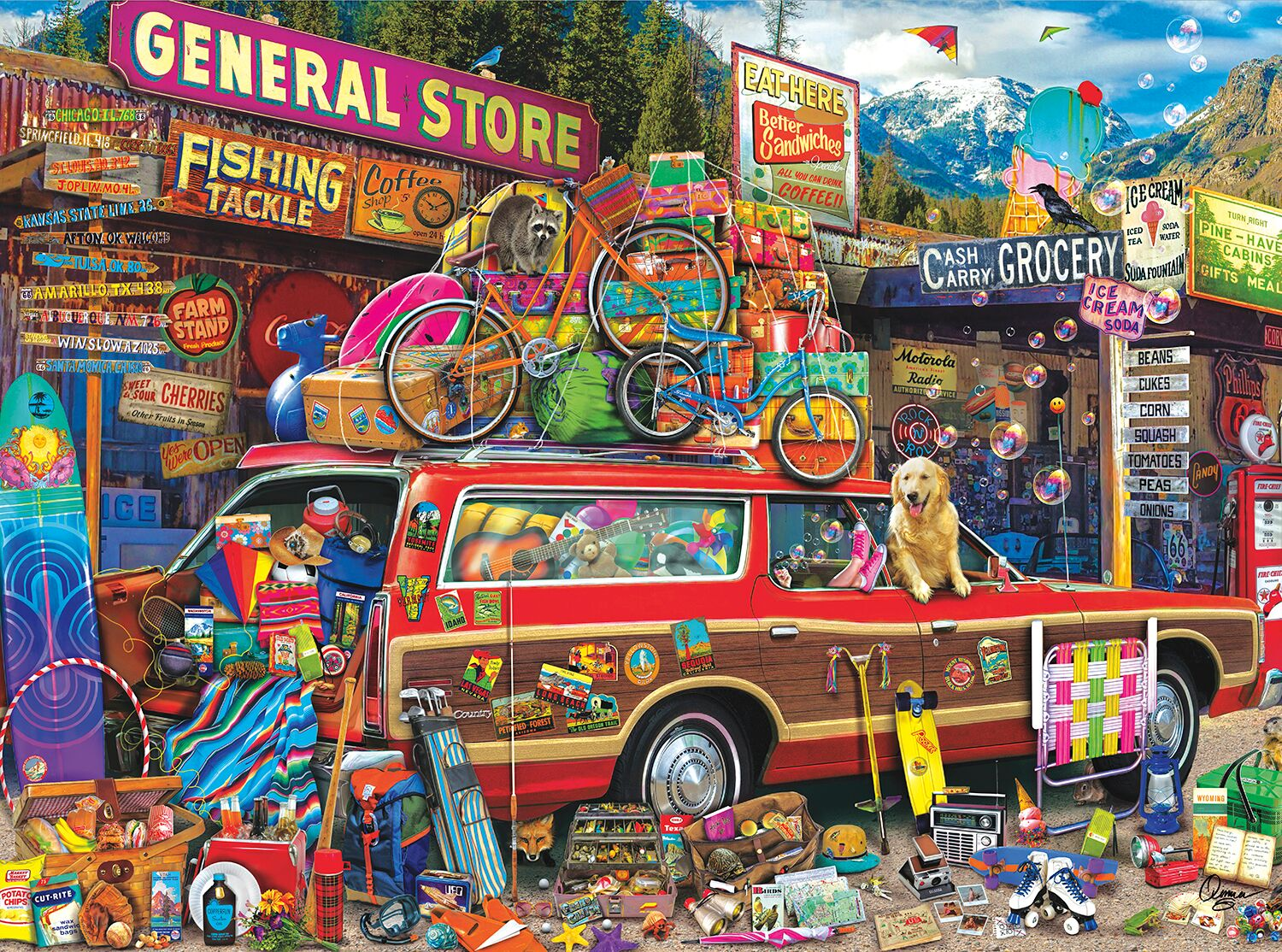 Family Vacation - Scratch and Dent Nostalgic / Retro Jigsaw Puzzle