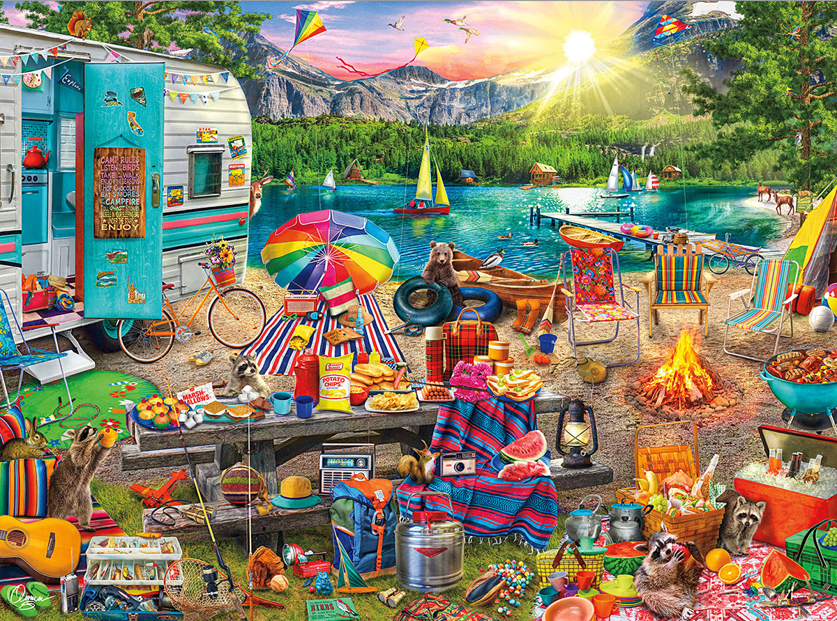 The Family Campsite Summer Jigsaw Puzzle