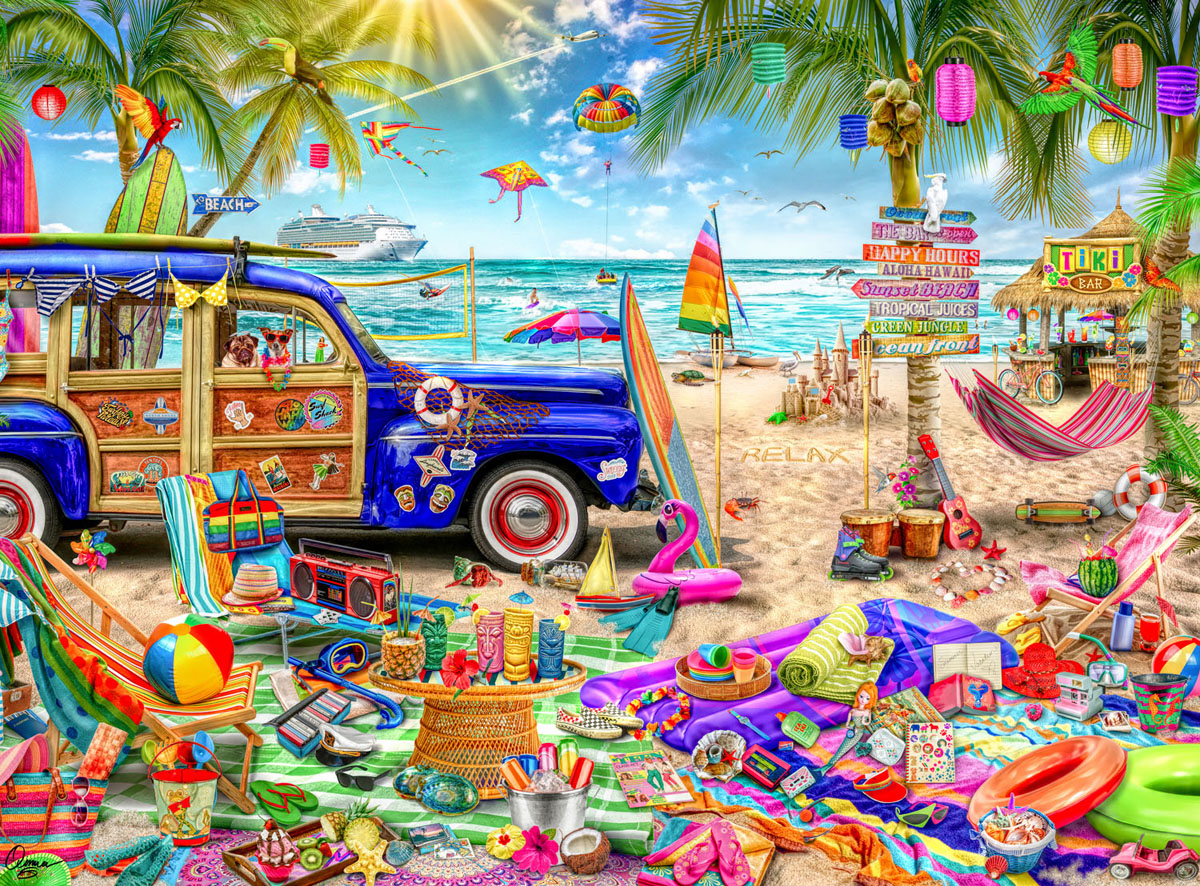 Beach Vacation Travel Jigsaw Puzzle