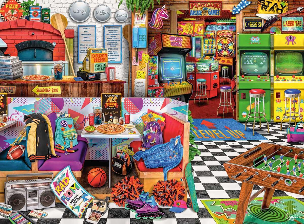 Pixels and Pizza Nostalgic / Retro Jigsaw Puzzle