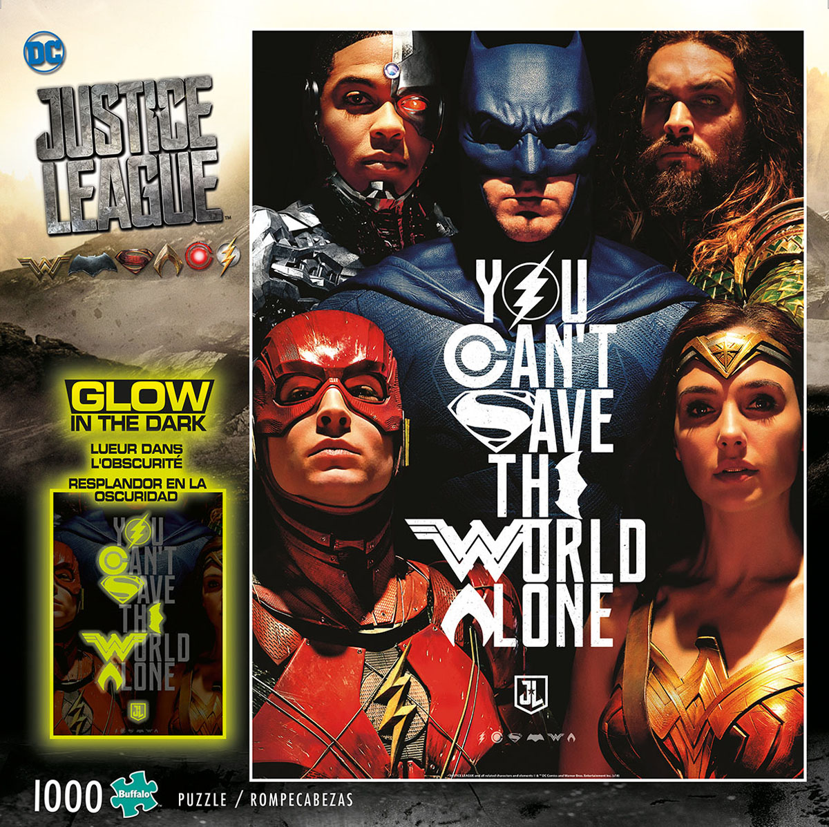 Justice League - You Can't Save the World Alone - Glow in the Dark