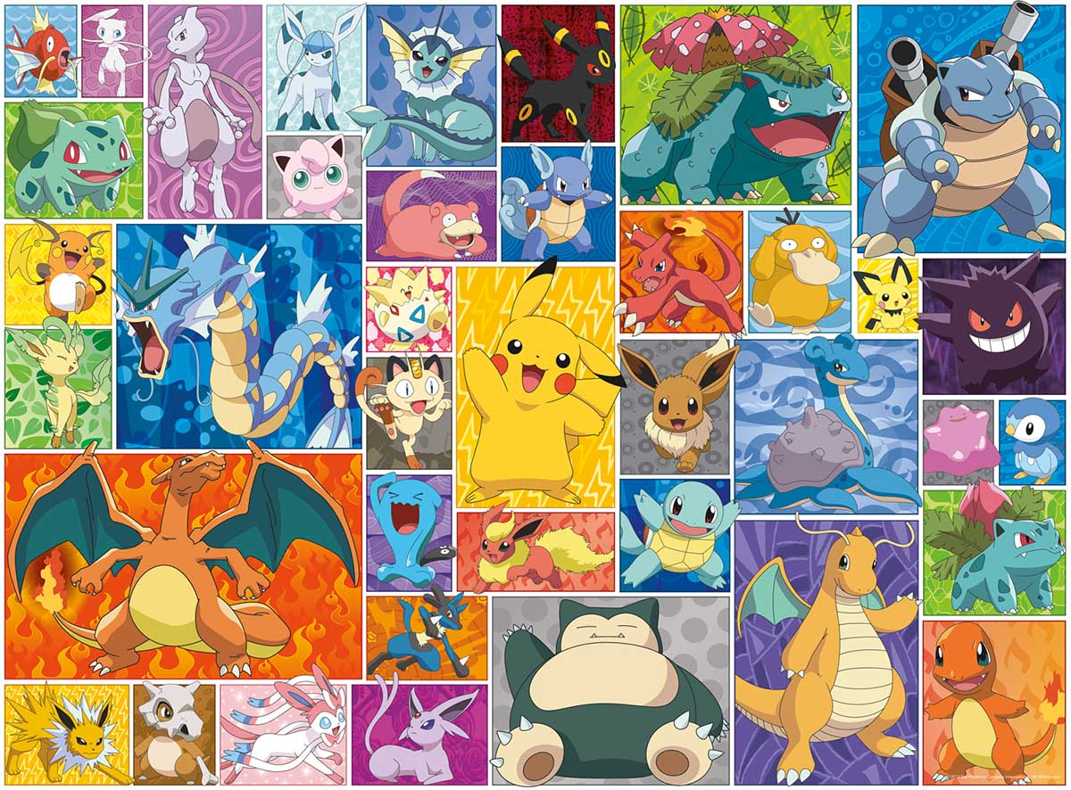 Pokemon - Pokemon Frames Video Game Jigsaw Puzzle