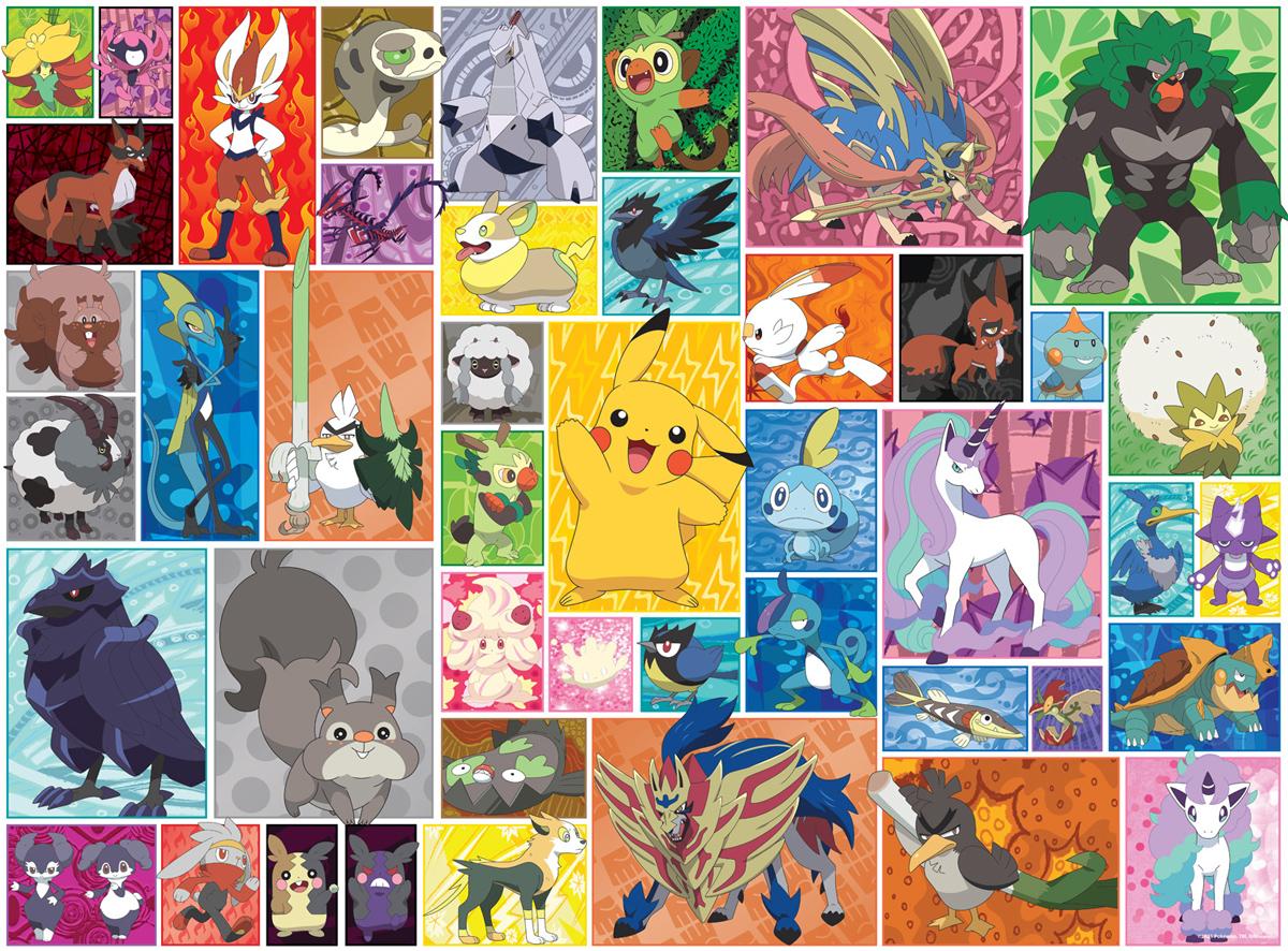 Pokemon Galar Frames Cartoons Jigsaw Puzzle