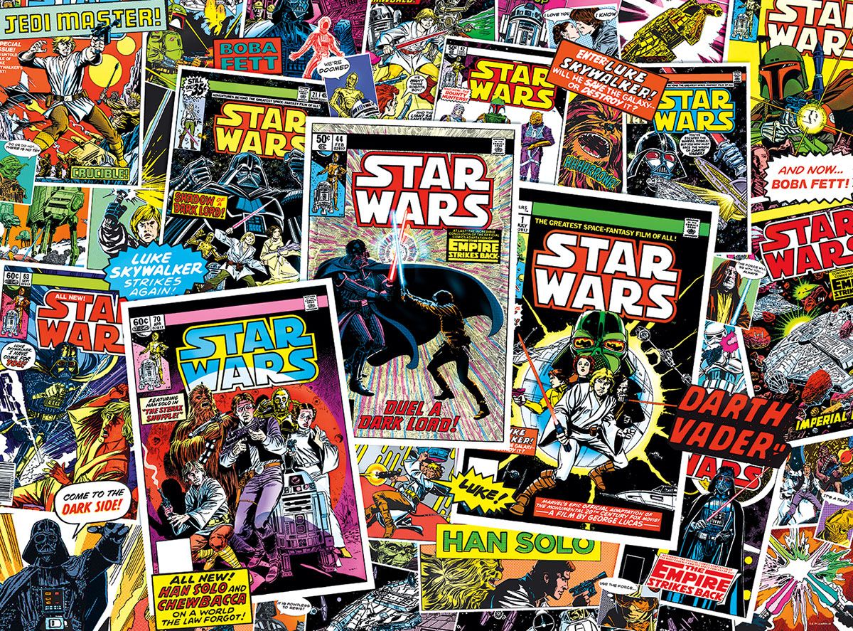 Book Cover Collage Game ~ Star wars™ classic comic books jigsaw puzzle